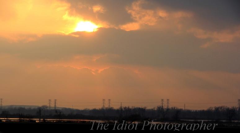 sunset over wolf lake