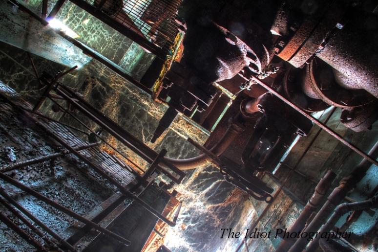boiler room looking up
