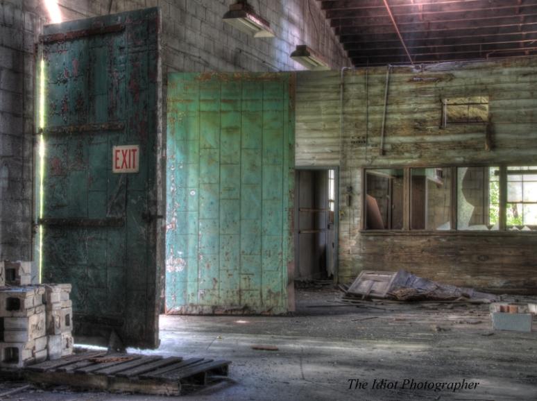 green door exit