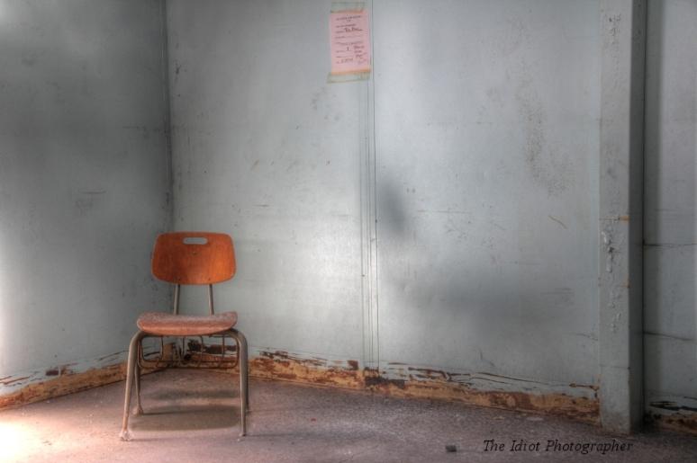 in a corner