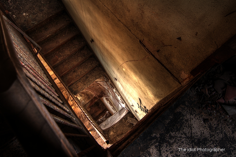 down stairs