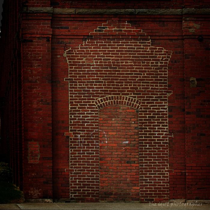 bricked over